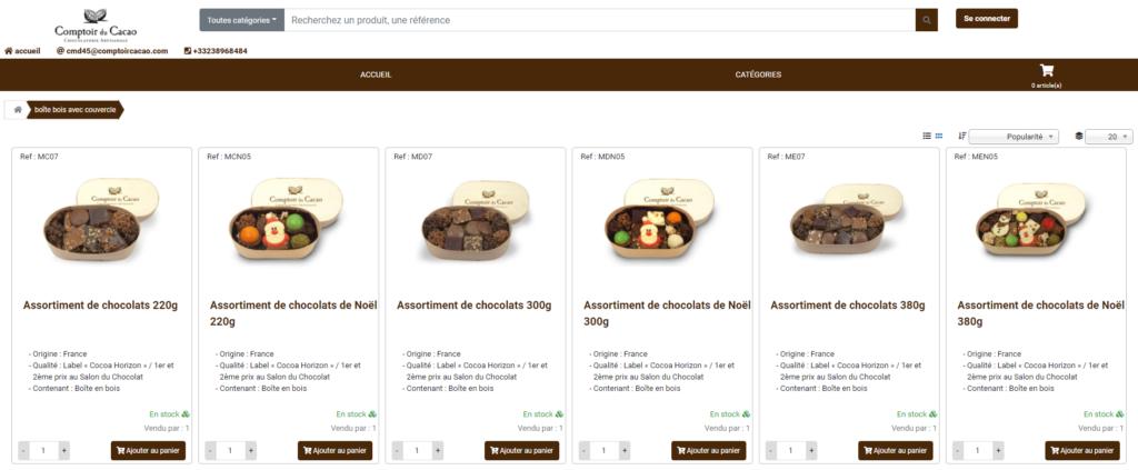 Site le comptoir du cacao
