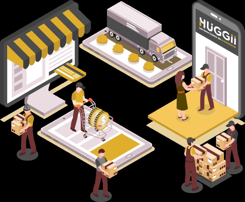 Solution Huggii pour les grossistes, distributeurs et fabricants