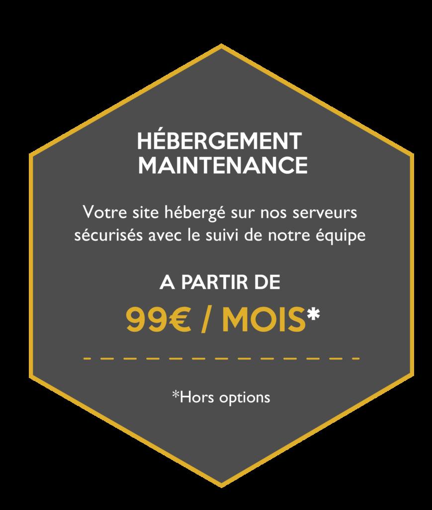 Hébergement et maintenance d=de votre site à partir de 99€ par mois
